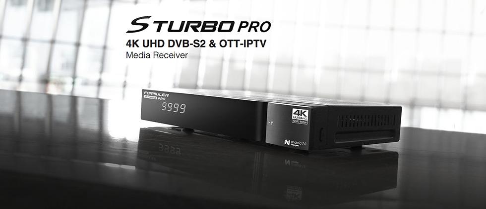 В продаже новинка! Спутниковый Ultra HD ресивер Formuler 4K S Turbo PRO