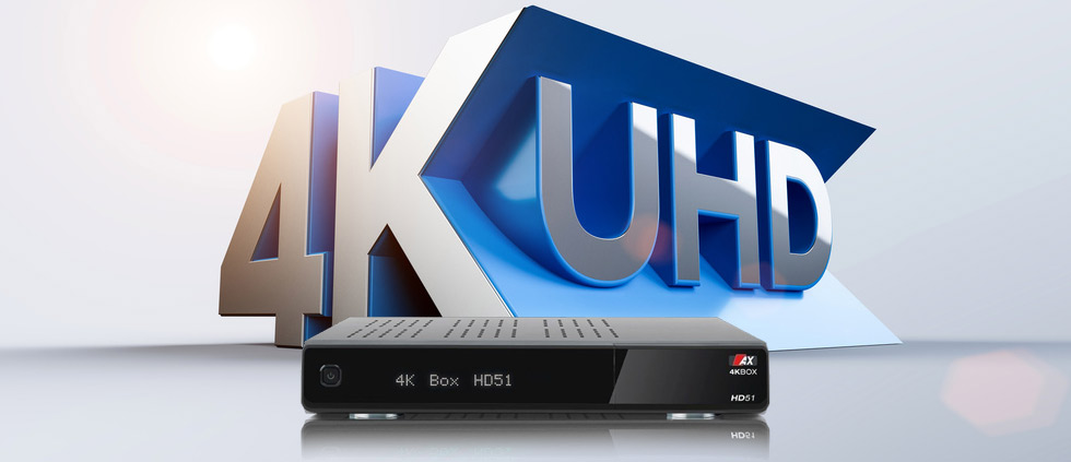 Поступают спутниковые Ultra HD ресиверы AX (Opticum) HD51 4K!