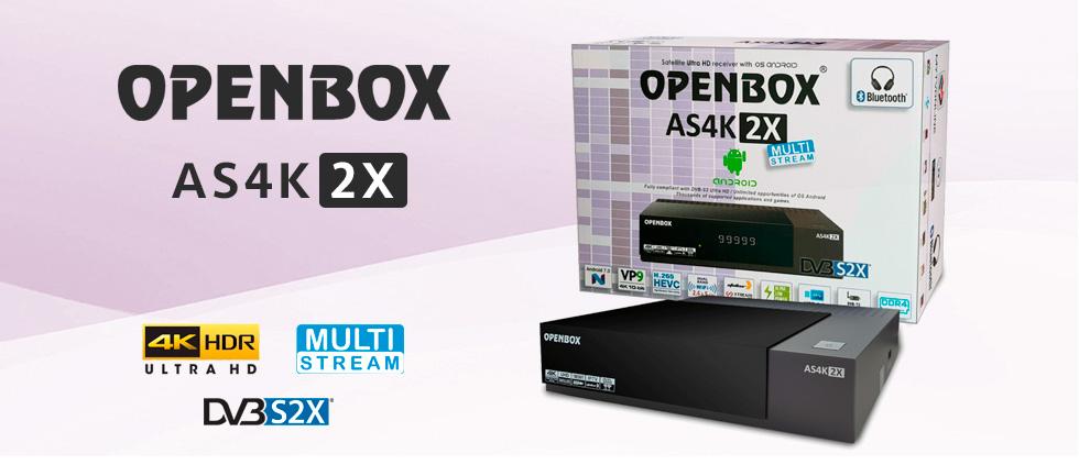 Новинка! Спутниковый UltraHD ресивер Openbox AS4K 2X доступен для заказа!