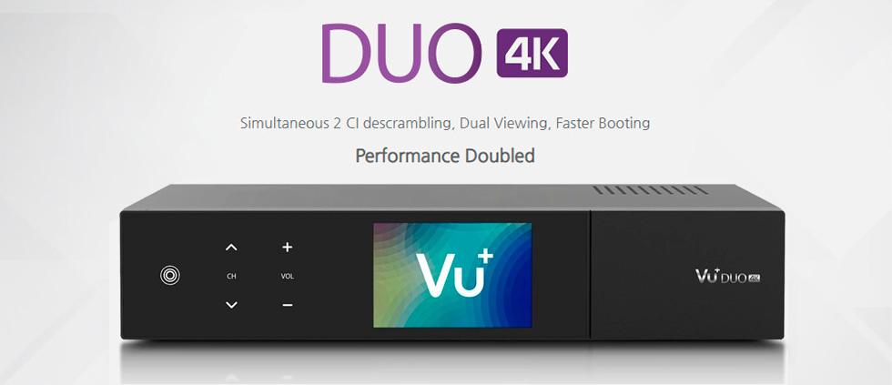 Новинка! Ultra HD ресивер VU+ DUO 4K! В продаже вся линейка спутниковых ресиверов Vu+