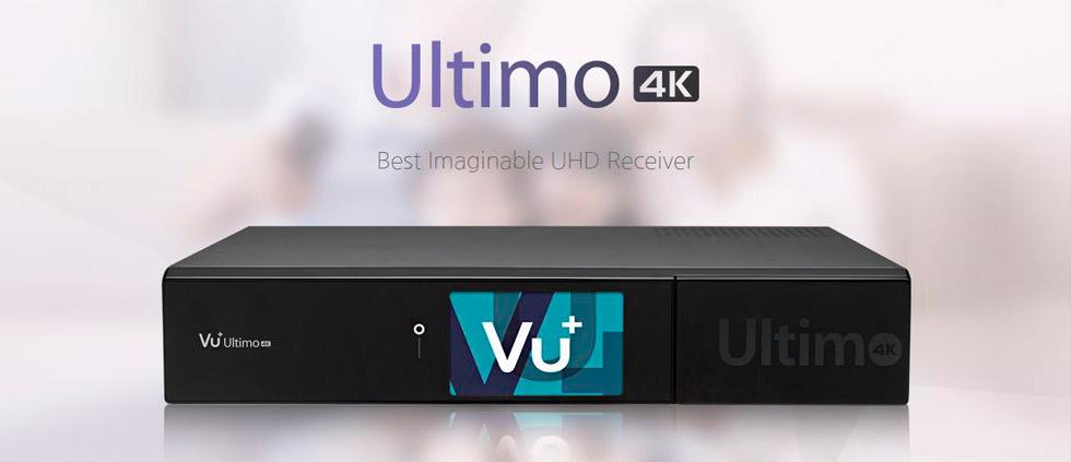 Снова в продаже Ultra HD ресиверы High-End класса VU+ Ultimo 4K