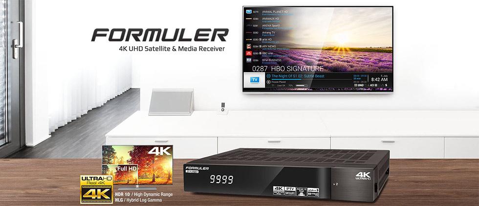 В продаже новинки! Спутниковые Ultra HD ресиверы FORMULER 4K