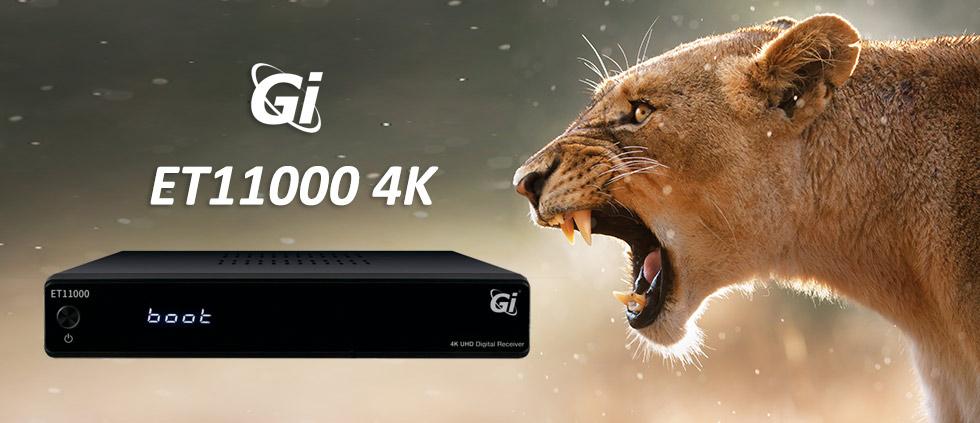 В продаже новинка! Спутниковый Ultra HD ресивер GI ET11000 4K