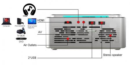 Проектор Everycom T6 Sync Серебристый