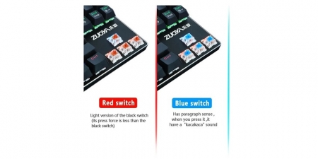 Клавиатура Zuoya X51 Red Switch с mix подсветкой