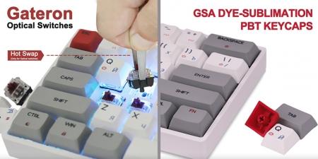 Клавиатура Skyloong SK61 Brown Switch с подсветкой