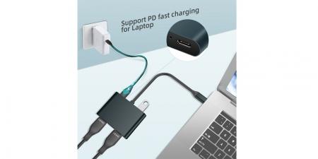 Адаптер (хаб) Type-C/USB 3.0 на 2хHDMI Booox UTH03