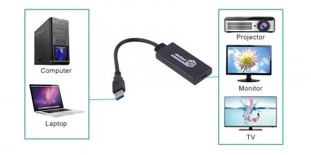 Адаптер USB 3.0 на HDMI Booox UH01
