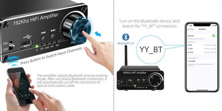 Аудио Bluetooth усилитель Booox A60 Чёрный