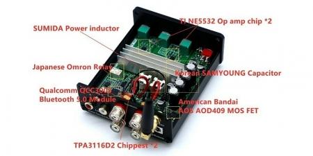 Аудио Bluetooth усилитель Fosi Audio BT20A чёрный