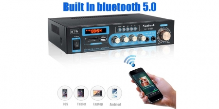Аудио Bluetooth усилитель Sunbuck AV-516BT чёрный
