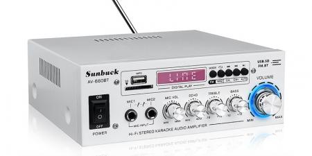 Аудио Bluetooth усилитель Sunbuck AV-660BT белый