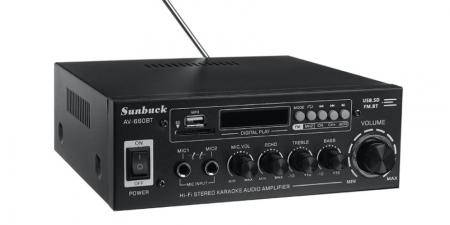 Аудио Bluetooth усилитель Sunbuck AV-660BT чёрный