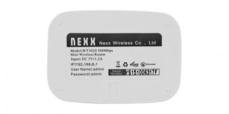 Беспроводной мини маршрутизатор (роутер) NEXX WT3020F
