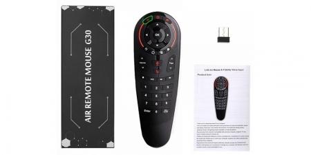 Гироскопический пульт Air Mouse G30 2.4GHz с голосовым управлением