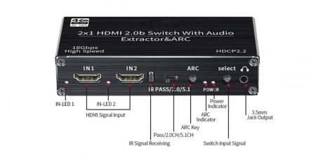 HDMI свитч и конвертер звука (HDMI ARC Audio Extractor) Booox OZV2