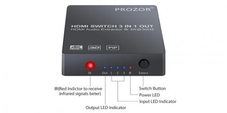 HDMI свитч и конвертер звука (HDMI Audio Extractor) PST073 Prozor