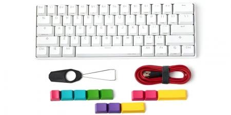 Клавиатура беспроводная Obins Lab Anne Pro 2 Gateron Red Switch (белая)