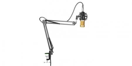 Конденсаторный микрофон со стойкой BM-800K Чёрно-золотой
