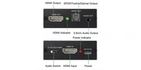 Конвертер звука (HDMI Audio Extractor) Booox AE14