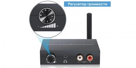 Конвертер звука SPDIF / Bluetooth на RCA/3.5 Booox DAC-BL
