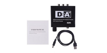 Конвертер звука SPDIF / Coaxial на RCA/3.5 Booox DAC20 HiFi