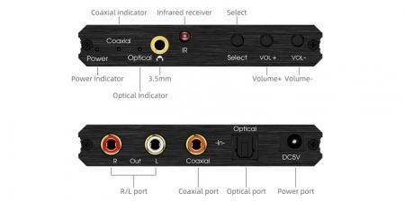 Конвертер звука SPDIF на RCA/3.5 Booox DAC082