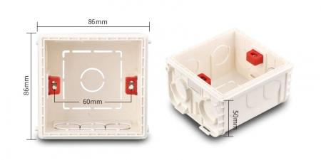 Квадратная монтажная коробка 86 на 86 мм