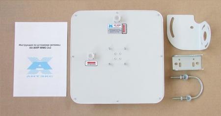 Панельная антенна AX-809PF 4G/LTE 800 MIMO 2x2 9Дб