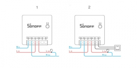 Переключатель (реле) Sonoff DIY Mini