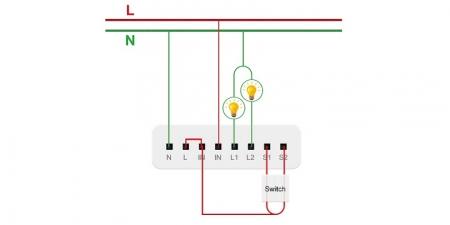 Реле управления электропитанием Aqara Wireless Relay двухканальное