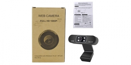 Веб-камера Ashu H800 Black 1080P