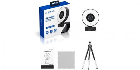 Веб-камера Papalook PA552 со светодиодной подсветкой