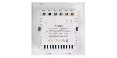 Выключатель на две зоны Sonoff T1 Wi-Fi (T1UK2C) new