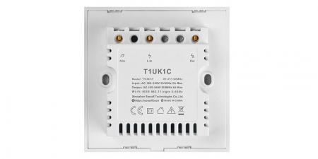 Выключатель на одну зону Sonoff T1 Wi-Fi (T1UK1C) new