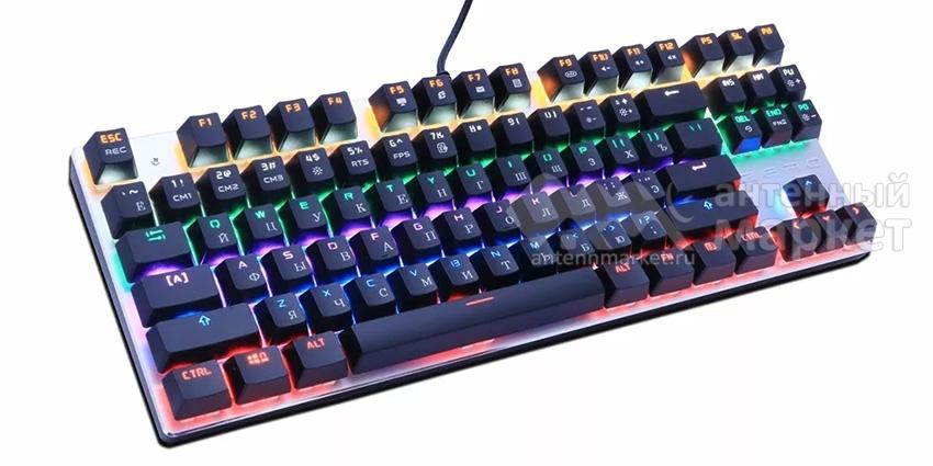 Клавиатура Metoo Zero X76 (87 key) Blue Switch с подсветкой