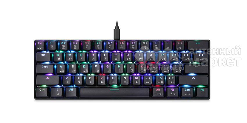 Клавиатура Motospeed CK61 Blue Switch с подсветкой