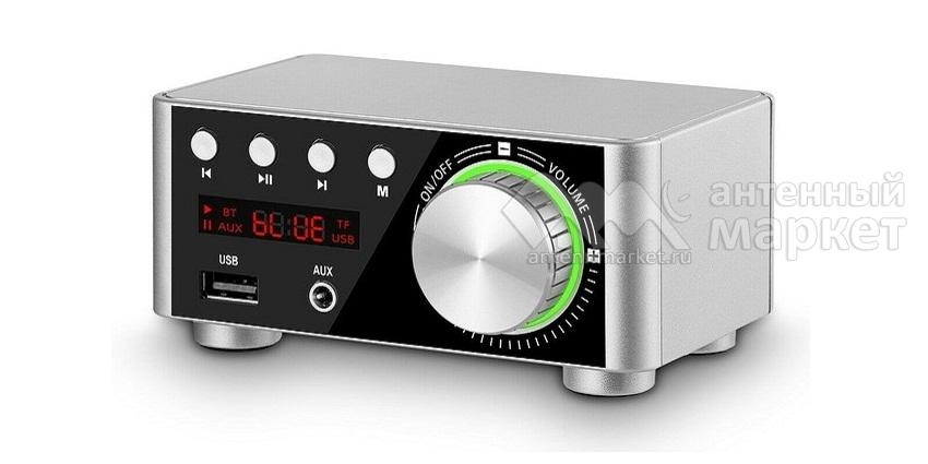 Аудио Bluetooth усилитель Nobsound Mini Серебристый