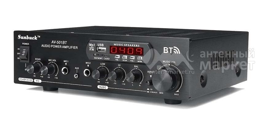 Аудио Bluetooth усилитель Sunbuck AV-501BT чёрный