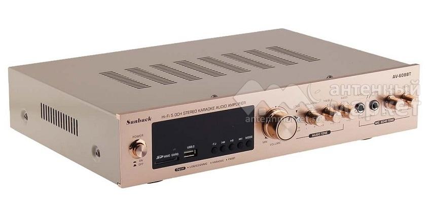 Аудио Bluetooth усилитель Sunbuck AV-608BT золотой