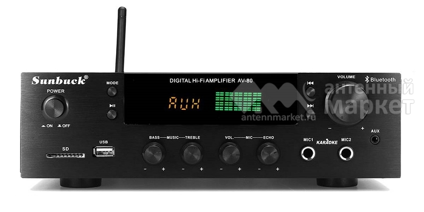 Аудио Bluetooth усилитель Sunbuck AV-80 чёрный