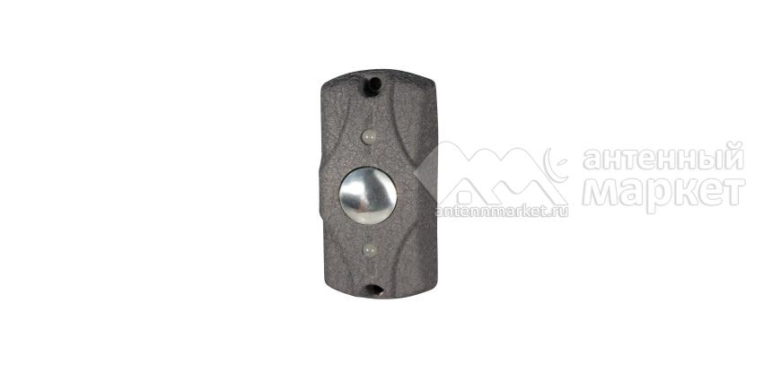 Кнопка выхода накладная ЦИКЛОП (серая кожа) Олевс