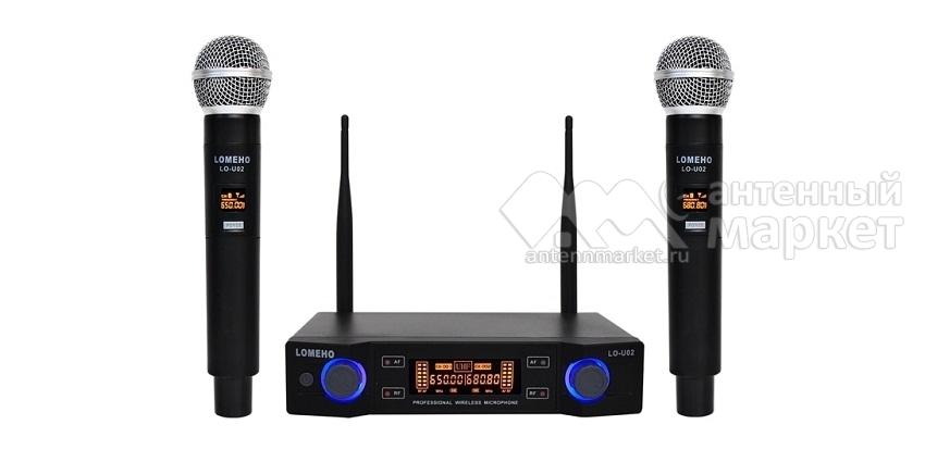 Комплект радио микрофонов LOMEHO LO-UO2