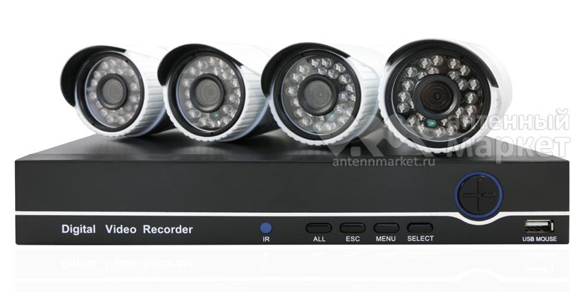 Комплект видеонаблюдения AHD AHD-607 на 4 камеры