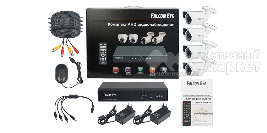 Комплект видеонаблюдения Falcon Eye FE-104AHD-KIT ДАЧА.1 на 4 камеры