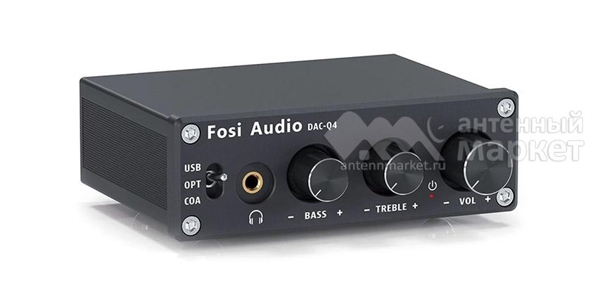 Конвертер звука SPDIF/Coaxial на RCA/3.5 Fosi Audio DAC-Q4 Black