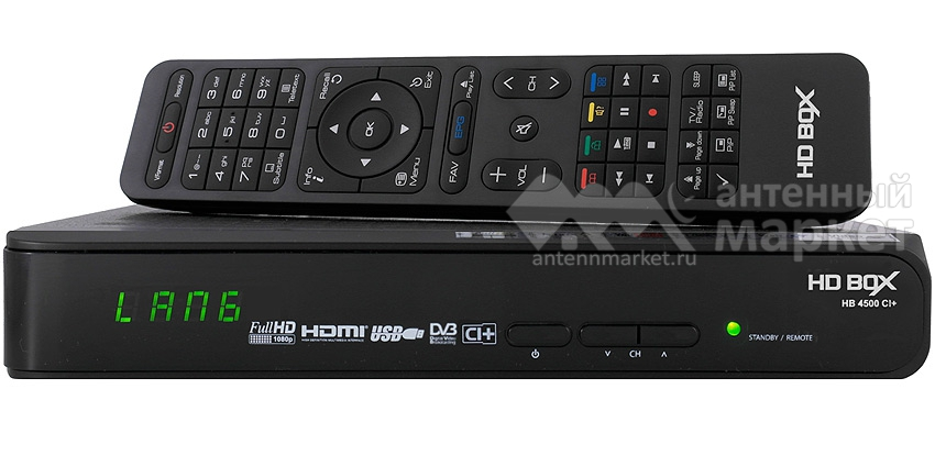 Ресивер HD BOX 4500 CI+