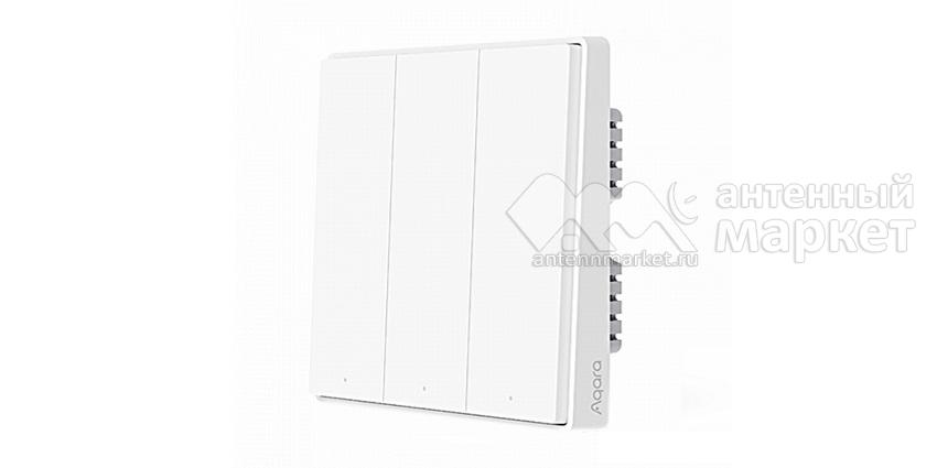 Умный выключатель Aqara Smart Wall Switch D1 Тройной