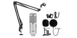 Конденсаторный микрофон со стойкой BM-800K Серебристый